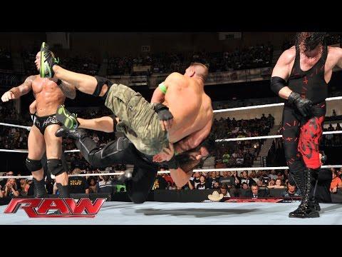 John Cena & Roman Reigns vs. Randy Orton, Seth Rollins & Kane - 3-on-2 Handicap Match: Raw, July 14, thumbnail