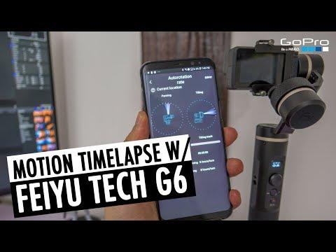 Motion Timelapse Tutorial   Autorotation FeiyuTech G6 Gimbal   RehaAlev