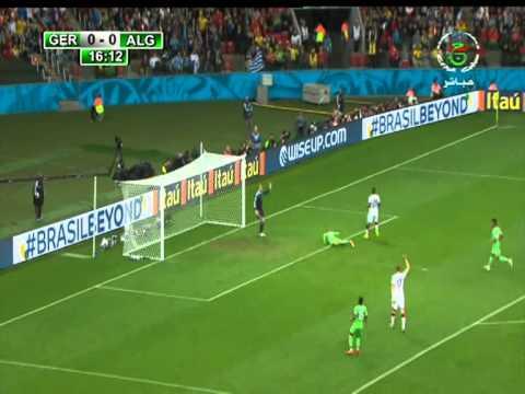 Le but pour hors-jeu Islam Slimani contre l' Allemagne2014