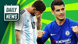 TRANSFERS and WORLD CUP NEWS: Morata to Dortmund, Argentina shock defeat + Éver Banega to Arsenal