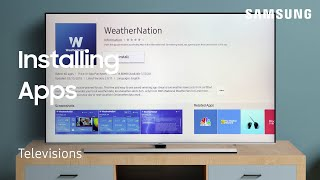 01. Install Apps from Smart Hub on your TV | Samsung US