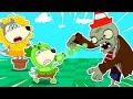 Wolfoo Cartoon ★ ウルフーピーシュータープラントvsゾンビ ★ どうぶつのアニメ ★ アニメキッズ