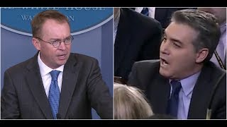 MUST WATCH: Mick Mulvaney SLAMS Drama Queen Jim Acosta on Government Shutdown
