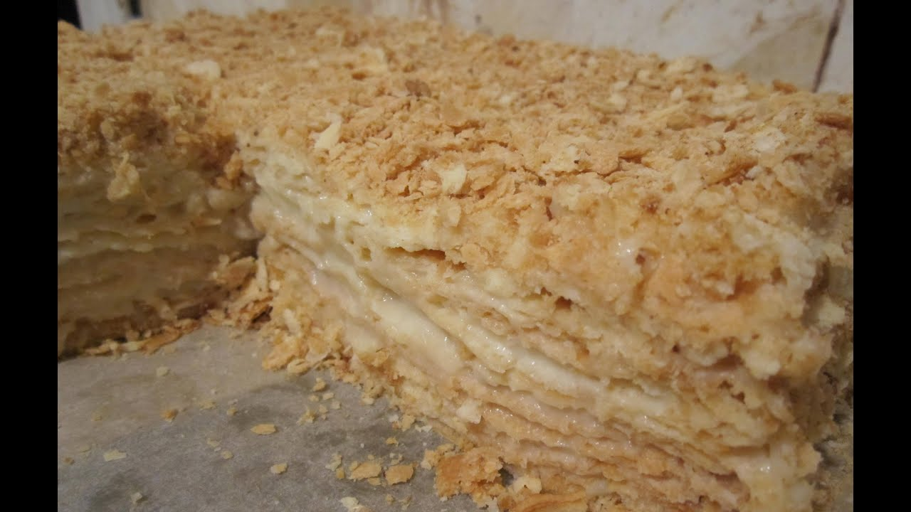 Торт наполеон в домашних условиях фото