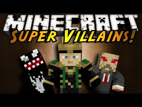 Minecraft Mod Showcase : SUPER VILLAINS!