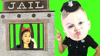 Baby Police Pretend Play Fighting Crimes and Playing With Toys Fun video for Kids