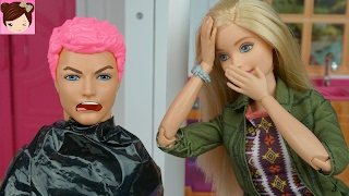Barbie Dyes Kens Hair Pink - Makeover FAIL! Barbie Doll Stories - Dating Fun Ken Doll