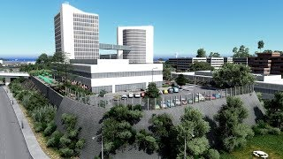 Cities Skylines - Littletown Mini Build - A new office by the airport