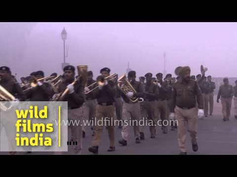 Old fashioned marching bands still in vogue in the Indian Army