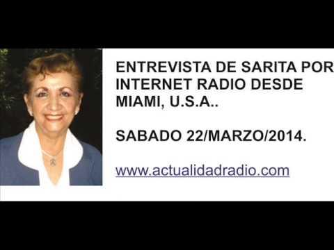 Entrevista a Sarita Otero en Radio Actualidad, Miami Florida, E.U.