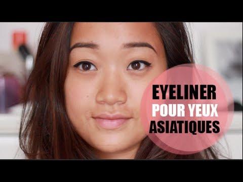 Tracer son trait d'eyeliner pour les yeux asiatiques