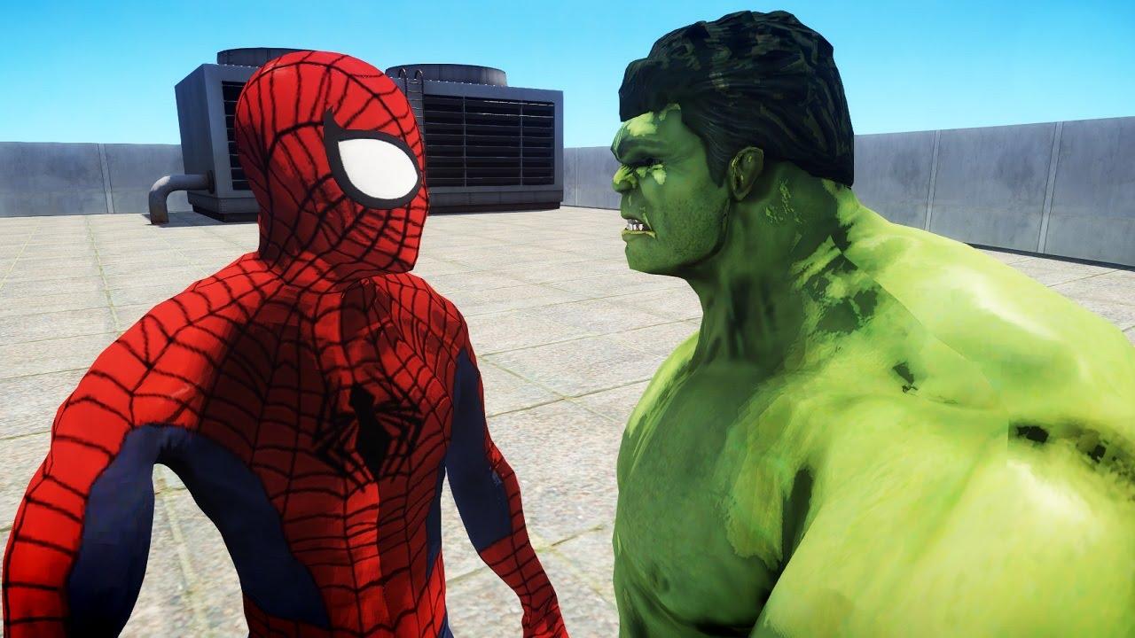 ULTIMATE SPIDERMAN VS THE INCREDIBLE HULK - YouTube