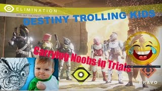 DESTINY TROLLING ANNOYING KIDS IN TRIALS! Pretending to be Bad! SQUEAKER IS BACK!