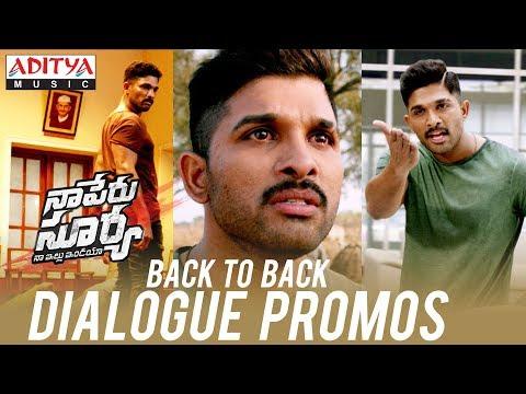 Back To Back Dialogue Promos | Naa Peru Surya Naa Illu India | Allu Arjun, Anu Emmanuel | Vamsi