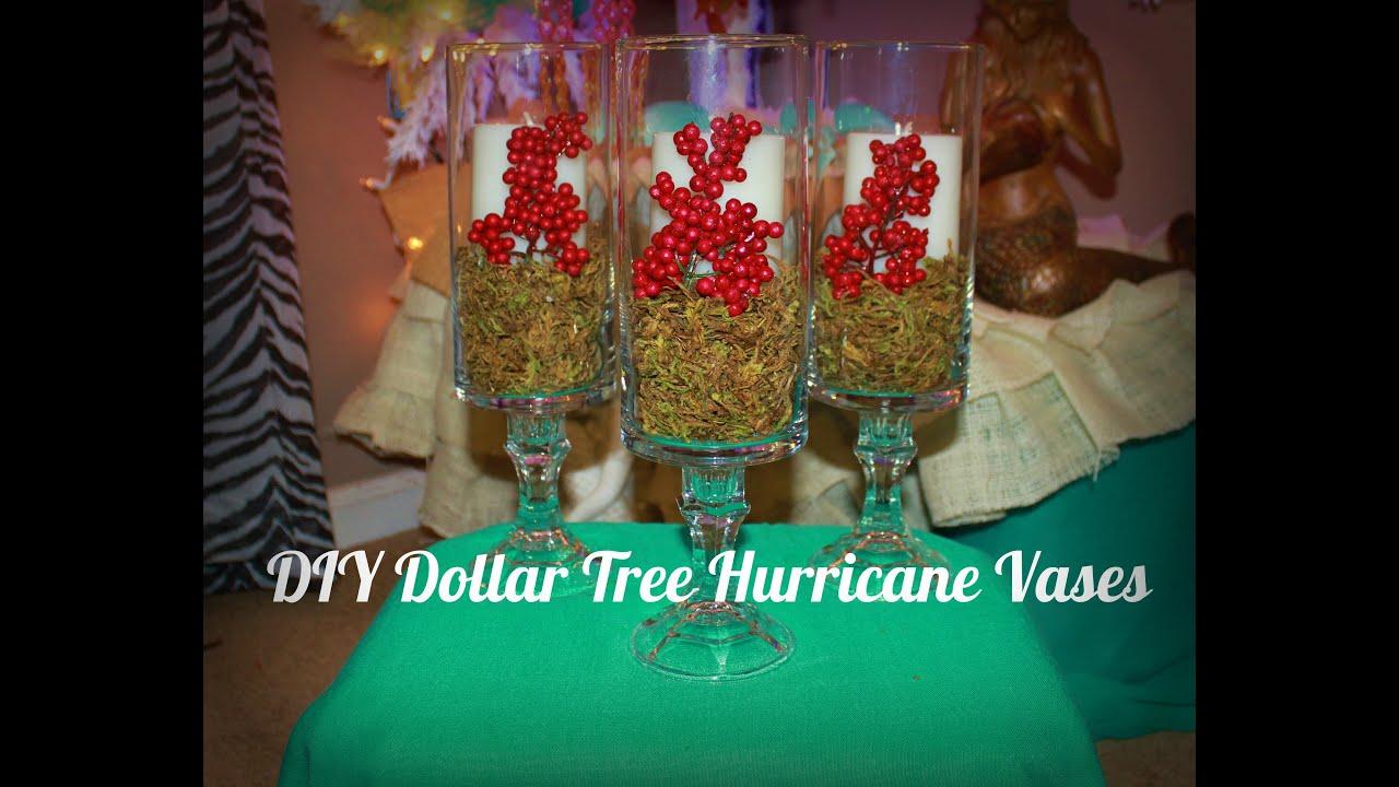 DIY Dollar Tree Hurricane Vases For Christmas YouTube