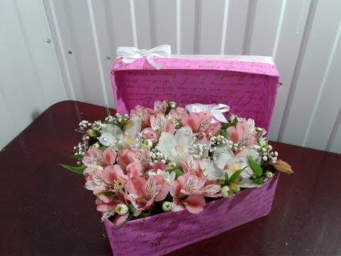 Роза в коробке своими руками 25