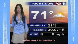 Air Quality Report TV News Weather Chemtrail Heatwave