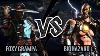 THE MKX HYPE TRAIN IS ROLLING! Foxy (Kung Lao) vs Biohazard (Kano)