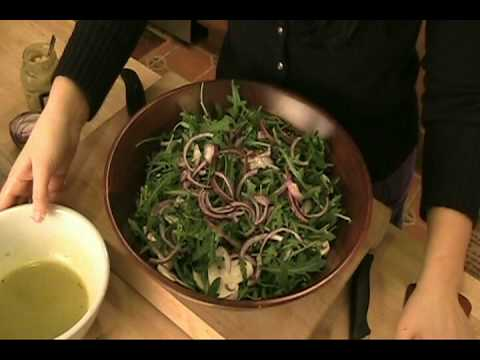 "How to make Arugula Salad w/ Lemon Vinaigrette – Laura Vitale ""Laura In The Kitchen"" Episode 20"