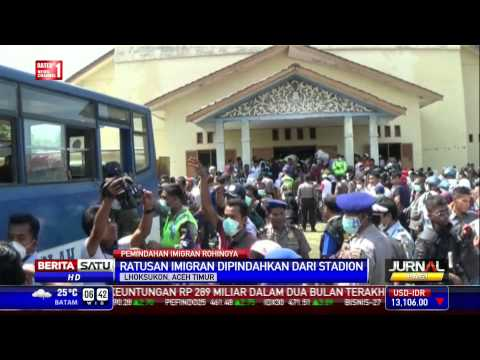 Imigran Rohingya Dipindahkan ke Perumahan Aceh Utara
