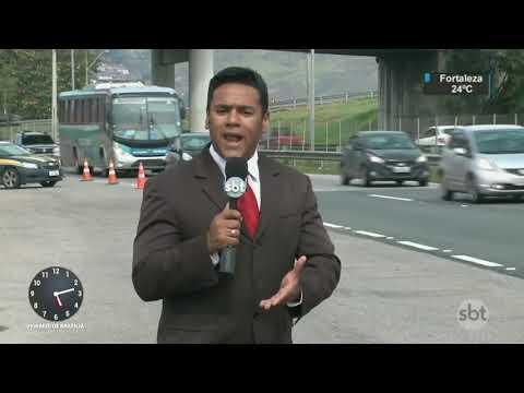 RJ: Ampliação da BR-101 deve melhorar tráfego   SBT Notícias (21/08/17)