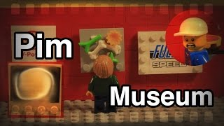 Lego Pim in museum! Lego stop motion!