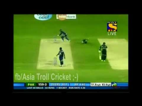 Pakisthan player Ahmad Shehzad gets bullied by Sangakkara's fun on the feild