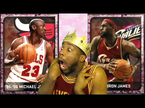 NEW PINK DIAMOND MICHAEL JORDAN! LEBRON JAMES! NBA 2k15 MyTeam Stats & Review