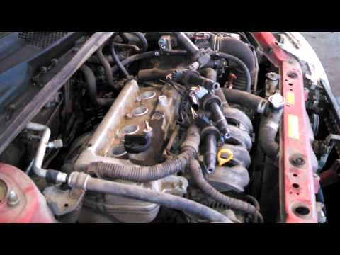 Spark plug replacement 2000 Toyota Echo 1.5L Install Remove Replace How to