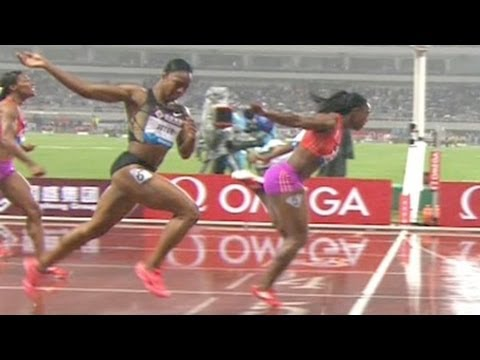Campbell-Brown holds off Jeter for 200m win - Shanghai Diamond League 2012