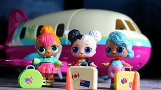 LOL SURPRISE DOLLS Go To The Airport To Fly On Plane!