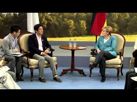 G8 Summit: Germany and Japan bilateral meeting