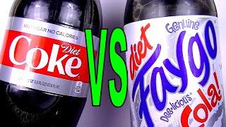 Diet Coke vs Faygo Diet Cola, What is the Best Tasting Diet Soda pop? FoodFights Review & Taste Test
