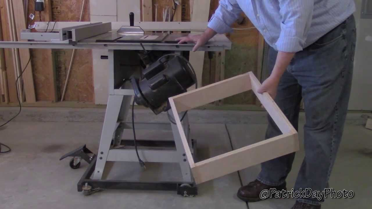 Diy Table Saw Workstation Cabinet Part 1 Of 3 Youtube