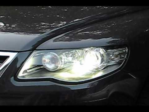 AFS HID cornering headlight demonstration on a VW Touareg TDI - YouTube