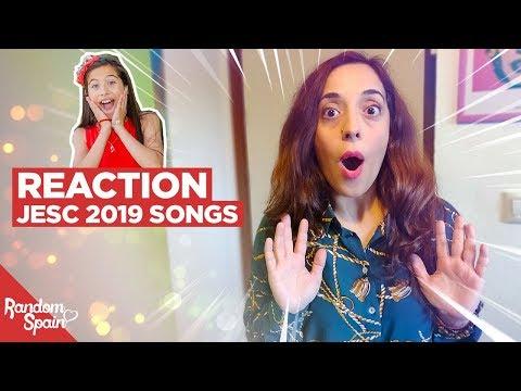 Reaction Junior Eurovision 2019 | Mi amiga escucha las canciones