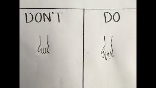Do's and Don'ts in drawing anime hands