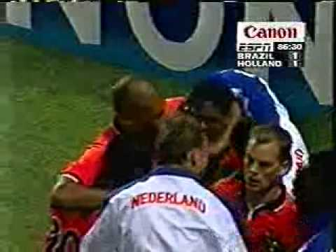World Cup 1998 Brazil vs. Netherlands - Kluivert tying goal.