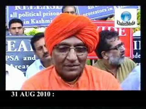 31 AUG 2010:Swami Agnivesh Protests against Killings in Kashmir After he Returns back