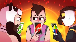 Intense Three-Way Uno Standoff! (Uno w/ Vanoss, Panda, and Ohmwrecker)