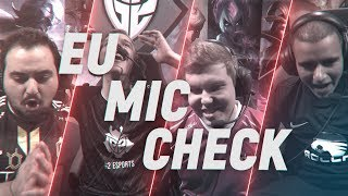 EU LCS Mic Check: Week9 | Spring Split 2018