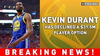 Kevin Durant to become free agent | Breaking News | CBS Sports HQ