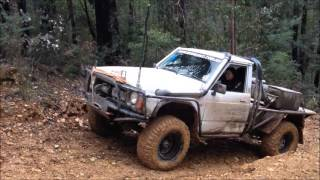Nissan GQ Patrol coil cab woods point hillclimb mud rocks clay