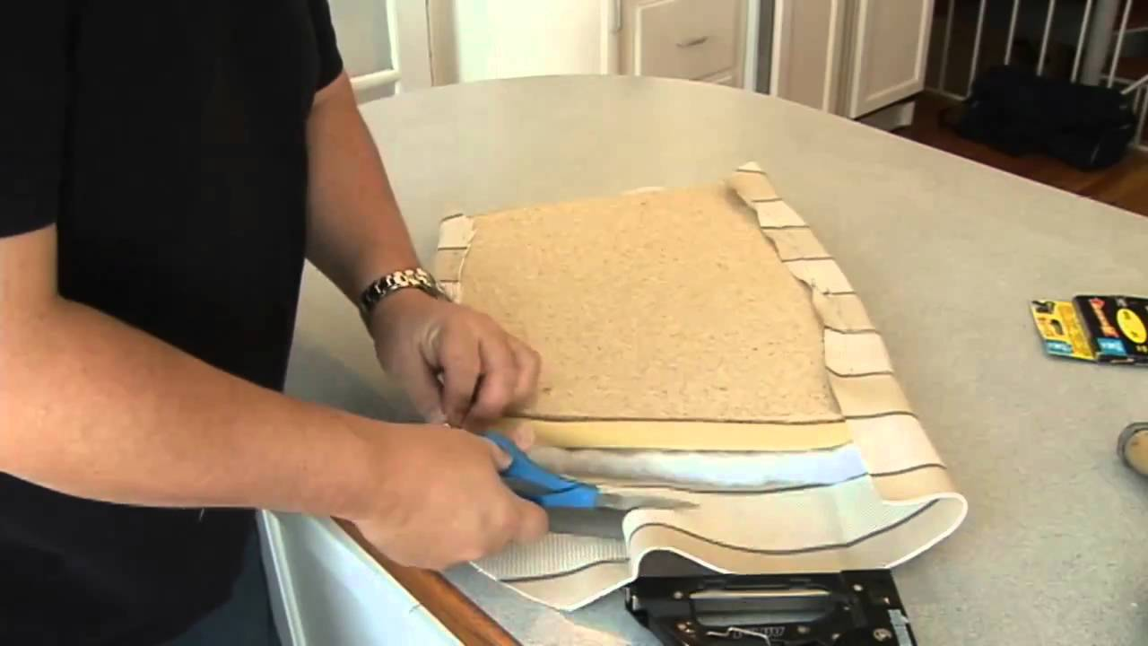 Recovering a Seat Cushion on a Chair - YouTube