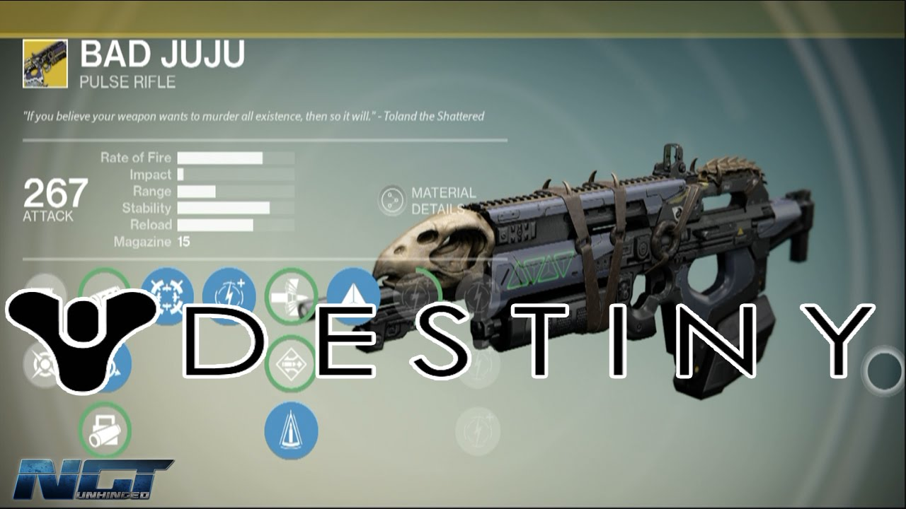 Bad juju pulse rifle destiny exotic weapon bounty guide youtube