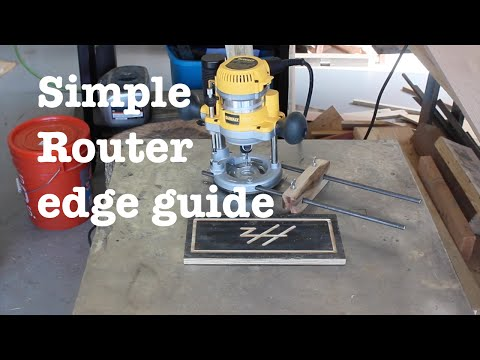Simple router edge guide   How-to