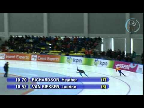 Laurine van Riessen & Heather Richardson 500m, Changchun 2010