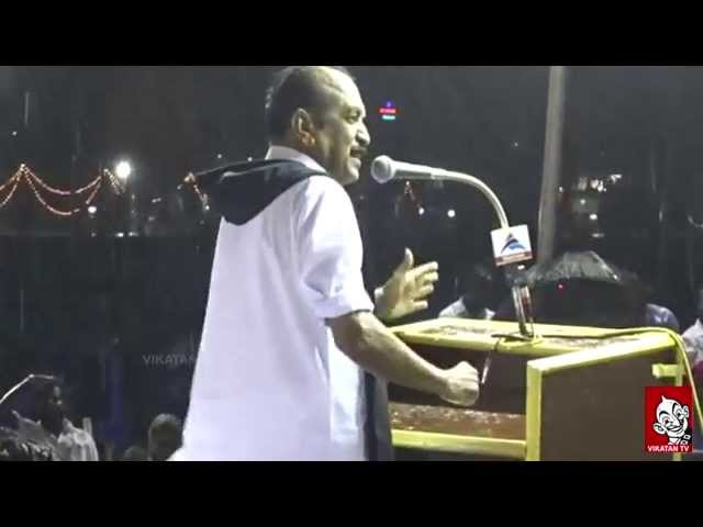 Vaiko Speech In Heavy Rain - Questions Jayalalitha