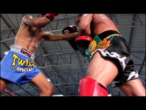 Muay Thai pad work with fighters from Phuket Top Team MMA Training Camp Thailand Image 1
