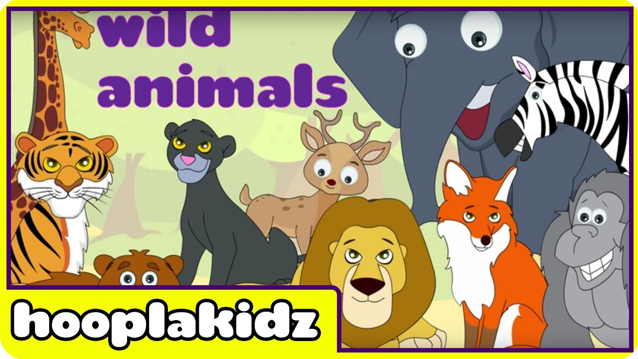 Learn About Wild Animals Preschool Activity Youtube